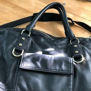 J. Crew hobo bag in Black Brompton Leather
